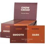 CHOW CACAO Raw Organic Chocolate Smooth Pure Dark 15x40g