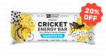 Grilo Organic Cricket Energy Bar | Banoffee 45g - Box of 12