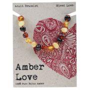 AMBER LOVE Mixed Adult Bracelet 20cm
