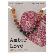 AMBER LOVE Rainbow Adult Bracelet 20cm