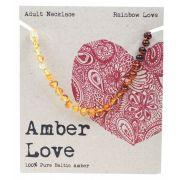 AMBER LOVE Rainbow Adult Necklace 46cm