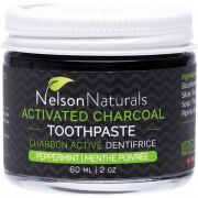 NELSON NATURALS Activated Charcoal Toothpaste Peppermint 60ml