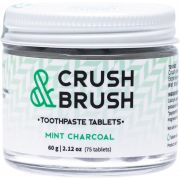 NELSON NATURALS Crush & Brush Toothpaste Tablets - Mint Charcoal 60g