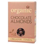 ORGANIC TIMES Milk Choc Almonds 150g