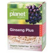PLANET ORGANIC Ginseng Plus Tea Bags 25 bags