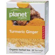 PLANET ORGANIC Herbal Tea Bags Turmeric Ginger 25