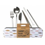 RETROKITCHEN Carry Your Cutlery - Leaves Stainless Steel Cutlery Set 1