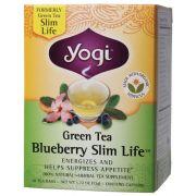 YOGI TEA Herbal Tea Bags Green Tea Blueberry Slim Life 16 bags