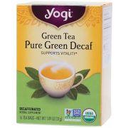 YOGI TEA Herbal Tea Bags Pure Green Decaf 16 bags