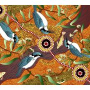 Beeswax Wraps - Choose Your Prints - Kingfisher Camp By River Yellow
