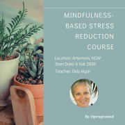 8 Week Mindfulness Based Stress Reduction Course in NSW - Sydney - Artarmon in Feb 2020