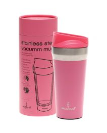 ECOBUD Vacuum Insulated Mug  Stainless Steel - Pink