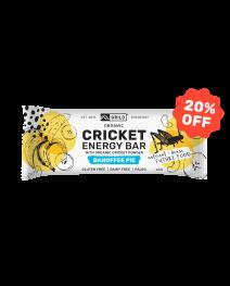 Grilo Organic Cricket Energy Bar | Banoffee 45g - Box of 12