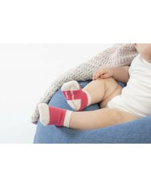 Happy Planet 3PK Bamboo Baby Socks - Teaberry/Oatmeal