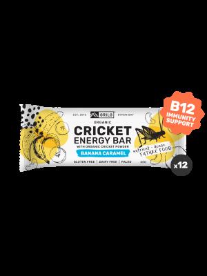 Grilo Organic Cricket Energy Bar | Banana Caramel 45g - Box of 12