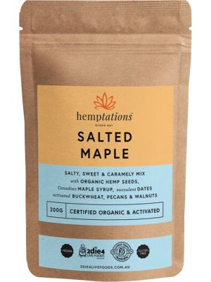 2DIE4 LIVE FOODS Hemptations Salted Maple 200g