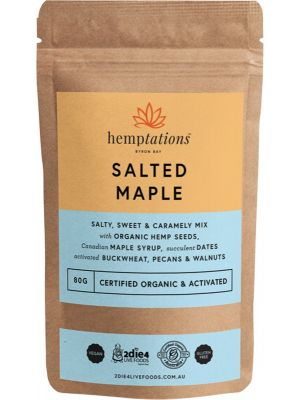 2DIE4 LIVE FOODS Hemptations Salted Maple 80g