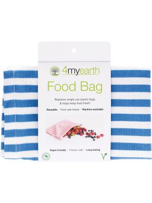 4MYEARTH Food Bag Denim Stripe - 25x20cm 1