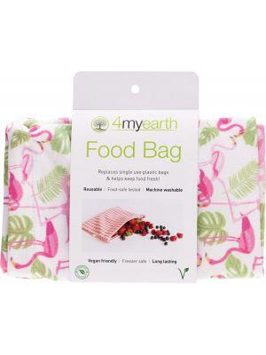 4MYEARTH Food Bag Flamingoes - 25x20cm 1