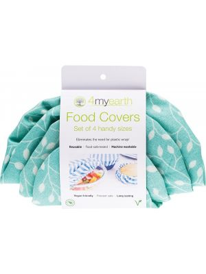4MYEARTH Food Cover Set Leaf - XS, S, M & L 4
