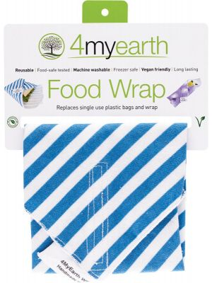 4MYEARTH Food Wrap Denim Stripe - 30x30cm 1