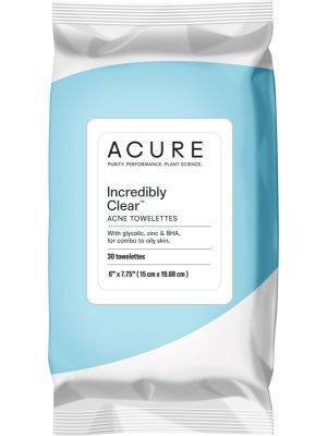 ACURE Incredibly Clear Acne Towelettes 30