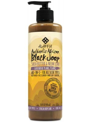 ALAFFIA Lavender Ylang Ylang Black Soap 475ml