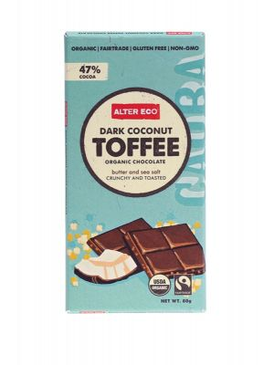 ALTER ECO Dark Coconut Toffee Chocolate 80g