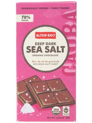 Alter Eco Dark Sea Salt Chocolate 80g
