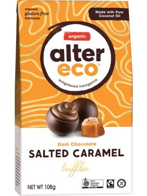 ALTER ECO Dark Salted Caramel Truffles 108g