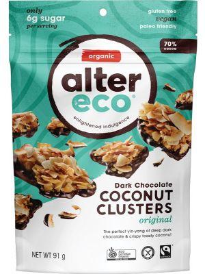 ALTER ECO Dark Chocolate Coconut Clusters Original 91g