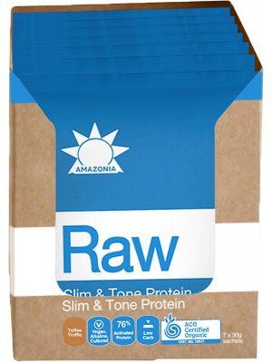 AMAZONIA Slim & Tone Protein Toffee Truffle 7x30g