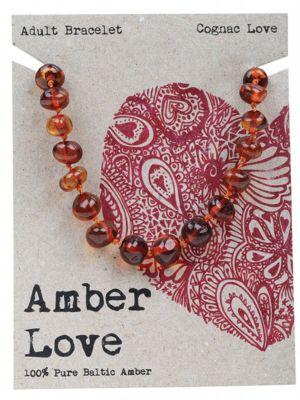 AMBER LOVE Cognac Adult Bracelet 20cm