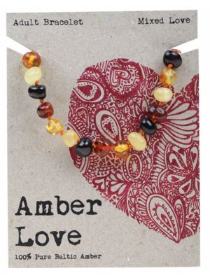 AMBER LOVE Mixed Adult Bracelet 20cm