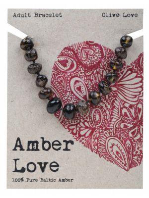 AMBER LOVE Olive Adult Bracelet 20cm