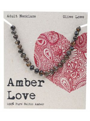 AMBER LOVE Olive Adult Necklace 46cm