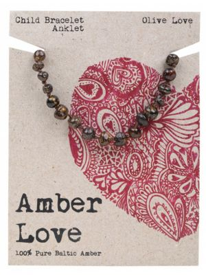 AMBER LOVE Olive Child Bracelet 14cm