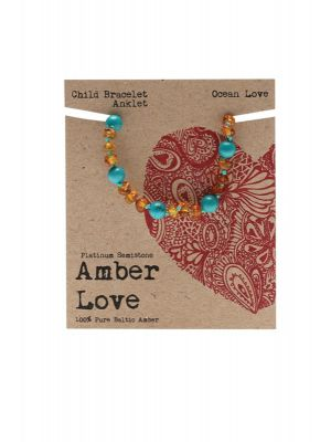 AMBER LOVE Children's Bracelet Amber Ocean Love 14cm