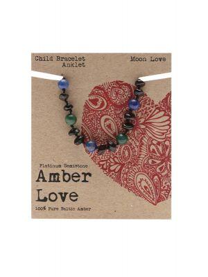 AMBER LOVE Amber Moon Love Bracelet 14cm