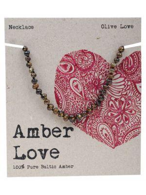 AMBER LOVE Olive Child Necklace 33cm