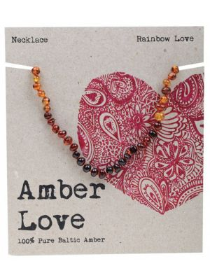 AMBER LOVE Rainbow Child Necklace 33cm