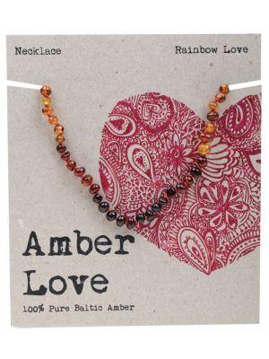 AMBER LOVE Rainbow Child Necklace 33cm