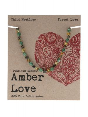 AMBER LOVE Amber Forest Love Child Necklace 33cm