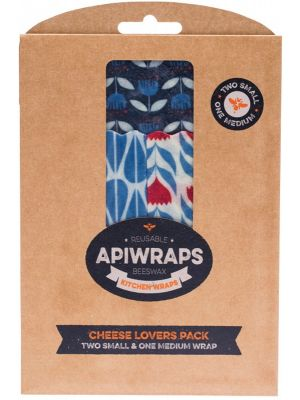 APIWRAPS R/sble Beeswax Wraps Cheese 2 X Small & 1 X Medium 3