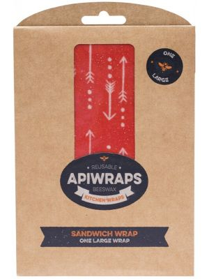 APIWRAPS R/sble Beeswax Wraps Sndwch 1 X Large 1