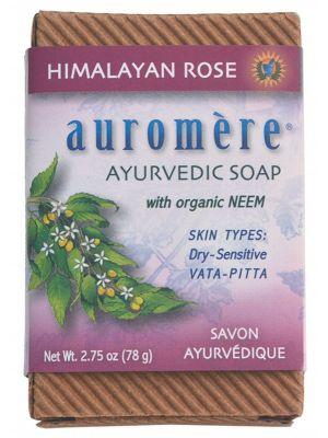 AUROMERE Neem Soap Himalayan Rose 78g