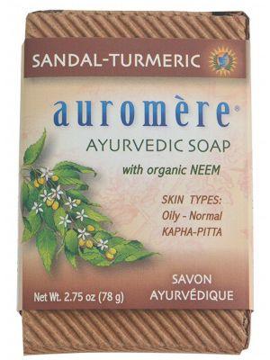 AUROMERE Neem Soap Sandal-Turmeric 78g