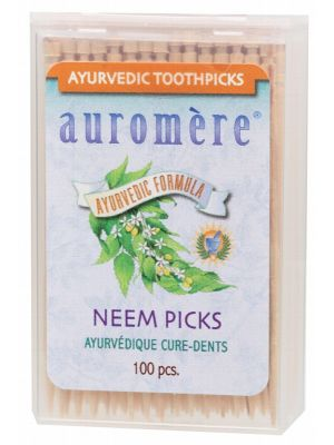 AUROMERE Toothpicks Neem Picks (Peppermint) 100 Pack