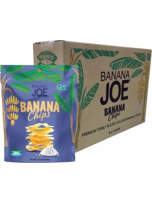 BANANA JOE Banana Chips Sea Salt 6x46.8g