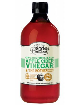Barnes Naturals Apple Cider Vinegar With Honey 500ml